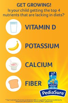 Find out more about the benefits of these 3 nutrients for growing bodies. PediaSure® is a good source of 25 essential vitamins and minerals, including all of these. Kids Nutrition, Nutrition Tips, Dietary Guidelines For Americans, American Diet, Lose 15 Pounds, Healthy Oils, Kids Health, Health Facts, Vitamins And Minerals