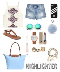 """""""U are all I see"""" by brendasofia13 on Polyvore featuring moda, H&M, Apt. 9, Longchamp, adidas, Oasis, Marc Jacobs y DesignSix"""