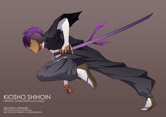 Kiosho Shihoin - Bleach OC by Kiosho-Shihoin on DeviantArt Black Cartoon Characters, Naruto Oc Characters, Bleach Characters, Fantasy Characters, Manga Anime, Anime Oc, Anime Demon, Anime Guys, Anime People