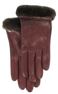 Conductive Leather Glove in Emilion by UGG®
