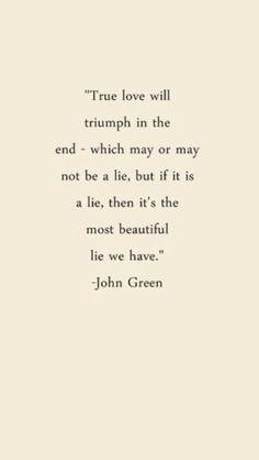 True love will triumph in the end