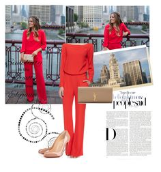 Red Jumpsuit by sarapires on Polyvore featuring Diane Von Furstenberg, Yves Saint Laurent and Chanel