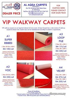 Selangor, Other Services Klang, Do You want an affordable home decor upgrade for your floors? Walkway, Vip, How To Apply, Carpets, Wedding Decorations, Events, Party, Products, Sidewalk