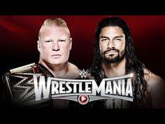 WWE World Heavyweight Champion Brock Lesnar vs. Roman Reigns at WrestleMania 31 Roman Reigns Wrestlemania, Wwe Wrestlemania 31, Wwe Events, Best Action Movies, World Heavyweight Championship, Brock Lesnar, Tv Schedule, Wwe World, Live Matches