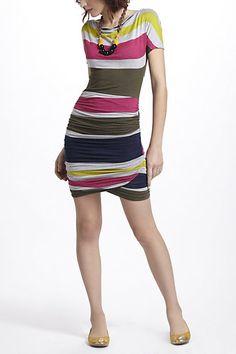 Racestripe Jersey Dress