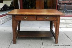 Antique Arts Crafts Mission Oak Limbert Furniture Co Writing Library Desk 1910 | eBay