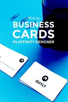 Making Business Cards in Affinity Designer