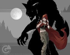Cailyn and the Wolf by *GarthFT on deviantART