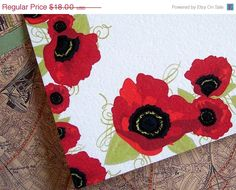 Personalized Note Cards - Red Poppy