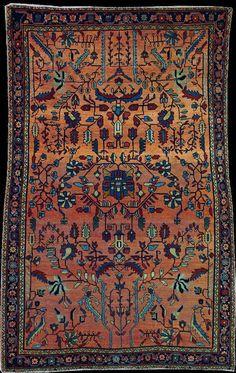 Persian Sarouk Mahajeran rug, early 20th Century