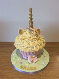 Unicorn Style Giant Cupcake