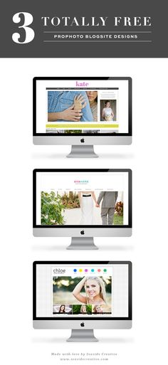 3 Totally Free ProPhoto Blogsites from Seaside Creative