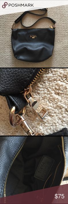 BCBG Paris Crossbody Bag BCBG Paris adjustable crossbody bag.  Gently used. BCBG Bags Crossbody Bags