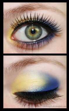 I love blends of warm and cool colors on the lids