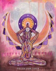 Art Chakra, Chakra Yoga, Chakra Meditation, Les Chakras, Seven Chakras, Yoga Kunst, Yoga Symbole, Yoga Zen, Buddha