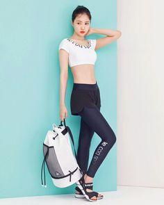 Naeun for W Korea X Le Coq Sportif!  #Naeun #나은 #Apink #에이핑크