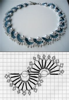 ❦ Tutorial ❦ ∙∙∙ Bead Necklace - http://www.liveinternet.ru/users/mosja1/post263376841/