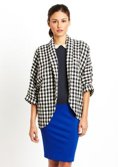 LOVE...ADY Tweed Rolled Sleeve Blazer