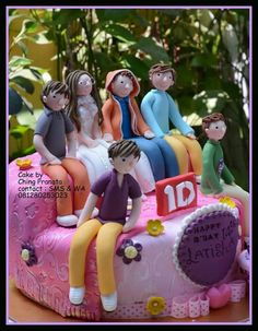 1 direction with birthday's girl Cakes creation by ching pranata - Jakarta ,Indonesia