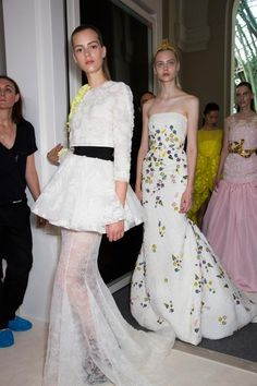 ANDREA JANKE Finest Accessories: A Wearable Garden by Giambattista Valli Fall 2013 Couture 'Behind The Scenes' #GiambattistaValli #Paris #HauteCouture