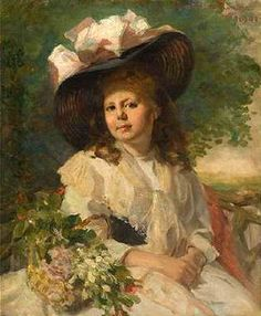 Young Girl With Pink Hat  FUNK Wilhelm