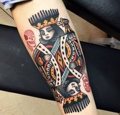 colourful tattoos // 30+ Beautifully Colourful Traditional Tattoos