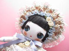 Japanese Handmade Bunka Doll Violet Rose Classic Cute Little Girl #doll