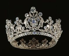 In 1820 Duchess Pauline of Wurttemberg married her cousin's widow, King William I of Wurttemberg. Made by August Heinrich Kuhn using diamonds that were in the Wurttemberg crown.
