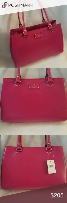 Kate Spade Purse Authentic *Brand New Kate Spade * elena * Sweatshirt Pink * Studded feet * Absolutely Gorgeous Designer Handbag * Feel free to Inquire and ask Questions if needed * kate spade  Bags