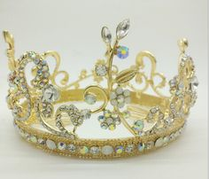 Find More Hair Jewelry Information about Baroque Bridal jewelry round Crown womens hair accessories wedding bride rhinestone tiara headband accessories B809,High Quality Hair Jewelry from The Sunny Day on Aliexpress.com
