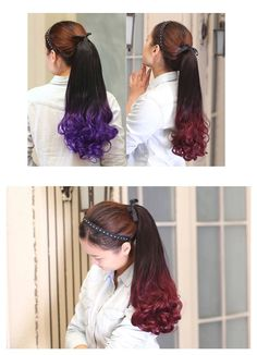 Curly Ponytail, Ponytail Hair Extensions, Ponytail Hairstyles, Drawstring Ponytail, Queen Hair, Synthetic Hair, Dance Dresses, Hair Pieces, Curly Hair Styles