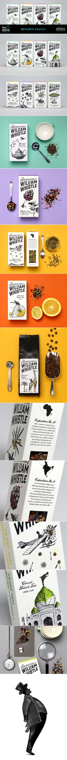 The Dieline Awards 2015: Editor's Choice - The Adventurous Blends of William Whistle — The Dieline | Packaging & Branding Design & Innovation News