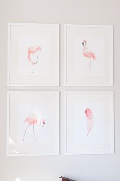 Such sweet flamingo prints for a baby girl nursery!