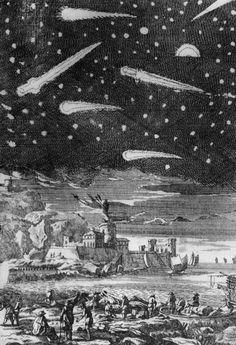 comets . Alain Manesson Mallet . 1685