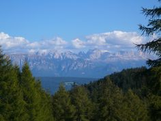 View from Austria of the mighty Dolomites