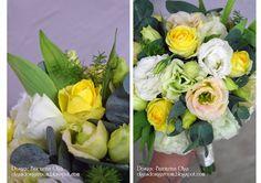 Baiciurina Olga's Design Room: Нежный букет невесты в желто-зеленых цветах-Tender green&yellow wedding bouquet