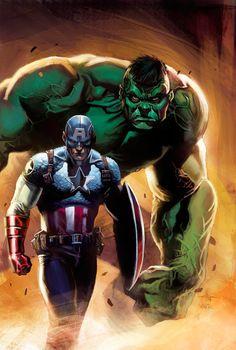 Captain America & The Hulk by Gabriele Dell'Otto