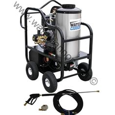 Hot Water Diesel Pressure Washer-Kohler KD420ES 10HP-Electric Start-Portable-CAT/General Pump-4.0GPM-3200 PSI.A 12 VDC diesel fired burner and marine duty battery box enables this pressure washer to be self-contained, therefore no external power source is needed. Likewise, an eight-gallon poly diesel fuel tank with a fuel filter makes fueling up an infrequent occurrence.For added convenience, a durable four-wheel push bar frame and lifting hook make moving this washer struggle-free.MODEL…