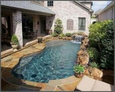 Amazing Natural Small Pools Design Ideas For Backyard 52 pool ideas A. Amazing Natural Small Pools Design Ideas For Backyard 52 pool ideas Amazing Natural Smal Pool Spa, Small Swimming Pools, Small Pools, Swimming Pools Backyard, Swimming Pool Designs, Pool Landscaping, Lap Pools, Small Yards With Pools, Small Pool Ideas