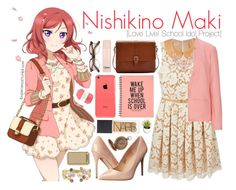 """Nishikino Maki [Love Live! School Idol Project]"" by anggieputeri on Polyvore featuring Michael Kors, Madden Girl, Marco Bicego, Joules, Sugarhill Boutique, Chloé, Pelle and NARS Cosmetics"