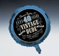 9.5AUD - Vintage Dude 40Th Birthday Party Foil Balloon Decoration Prop 45Cm Blue 40 Years #ebay #Home & Garden