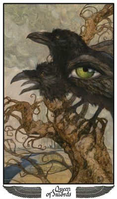Queen of Swords, Mary-El Tarot which isn't released deck, but wonderful art.