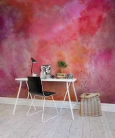 Wallpaper from Rebel Walls, Colour Clouds, chili! #rebelwalls #wallpaper #wallmurals