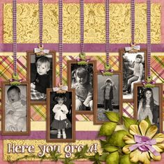 digital layout with 7 tags showing child's yearly growth... by Trixie Scraps Designs