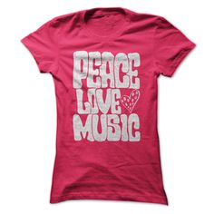(Tshirt Choose) Peace Love Music T Shirt [Tshirt design] Hoodies, Funny Tee Shirts