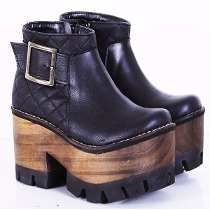 Botineta Botita Base Madera Modelo Priscila De Shoes Bayres