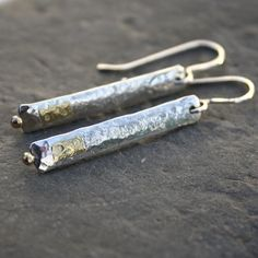 Silver and 18ct gold Dot earrings £46.00