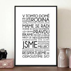 Plakát o naší rodině, 70x50 cm Letter Board, Scrapbook, Lettering, Home Decor, Decoration Home, Room Decor, Scrapbooking, Drawing Letters, Home Interior Design