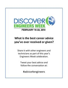 Share the best advice you've ever received or given on Twitter using hashtag #advice4engineers!
