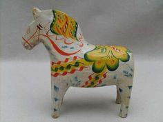 Antique Swedish Dalecarlian Dala Horse Sweden | eBay